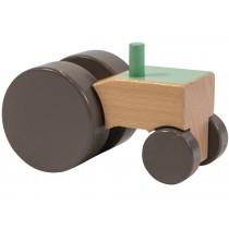 Sebra wooden tractor green