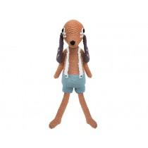 Sebra crochet dog Bob