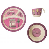Sebra bamboo dinner set Village Girl