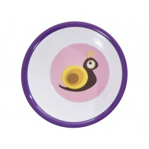 Melamine bowl with snail by Sebra