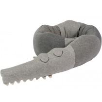 Sebra knitted cushion sleepy croc
