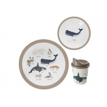 Sebra melamine dinner set Arctic Animals