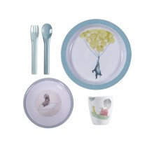 Sebra melamine dinner set In the Sky cloud blue