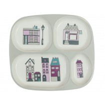 Sebra melamine plate 4 rooms village girl