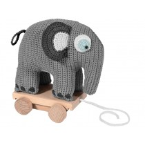 Sebra elephant on wheels pastel grey