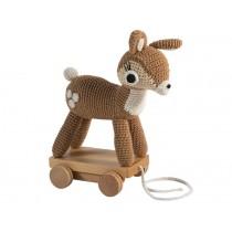 Sebra crochet pull-along toy deer