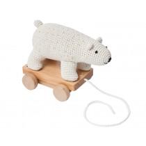 Sebra crochet pull-along toy POLARBEAR
