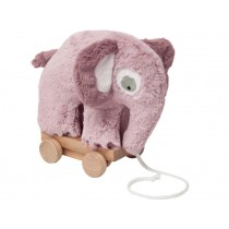 Sebra plush pull-along toy elephant vintage rose