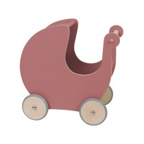 Sebra doll's pram dark pink