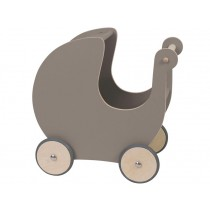 Sebra doll's pram warm grey