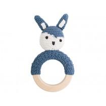 Sebra rattle rabbit on ring ROYAL BLUE