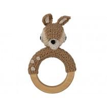Sebra crochet rattle deer on ring