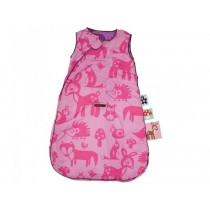 Sebra sleeping bag with forest in pink