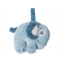 Sebra musical clock plush elephant CLOUD BLUE