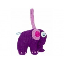 Musical elephant in purple by Sebra