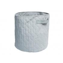 Sebra quilted storage basket grey