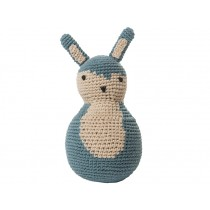 Sebra tilting toy rabbit pastel blue