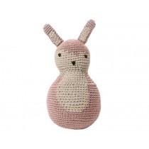 Sebra tilting toy rabbit pastel pink