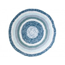 Sebra crochet carpet dove blue melange