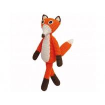 Sindibaba: Crochet Cuddly Toy Rattle - Fox