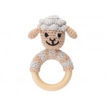 Sindibaba: Rattle Ring - Sheep Dolly grey