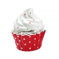 Silly Gifts money box CUPCAKE RED