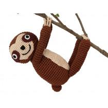 Sindibaba Crochet Cuddly Toy SLOTH SLEEPY brown