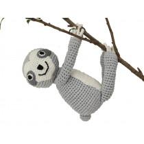Sindibaba Crochet Cuddly Toy SLOTH SLEEPY grey