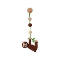 Sindibaba crochet pram clip SLOTH SLEEPY brown
