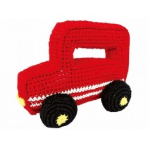 Sindibaba jeep-shaped grasp toy red