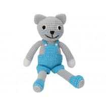 Sindibaba Crochet Cuddly Toy Rattle cat FELIX