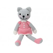 Sindibaba Crochet Cuddly Toy Rattle cat KITTY