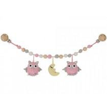 Sindibaba Stroller Chain OWL LUNA pink