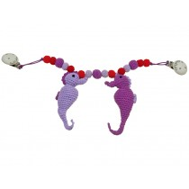 Sindibaba stroller chain seahorses pink