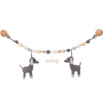 Sindibaba Stroller Chain DOG LUCKY grey
