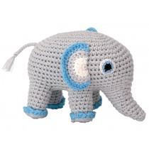 Sindibaba Crochet Cuddly Toy Rattle elephant JUMBO