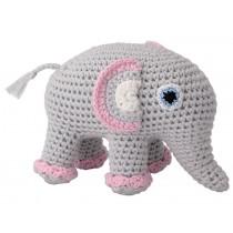 Sindibaba Crochet Cuddly Toy Rattle elephant JUMBA