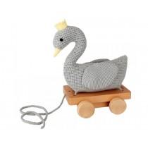 Sindibaba crochet pull-along toy SWAN GREY