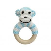 Sindibaba Rattle Ring MONKEY BLUE