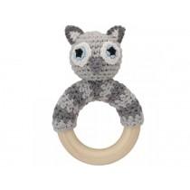 Sindibaba Rattle Ring OWL LUNO grey