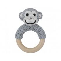 Sindibaba monkey rattle grey