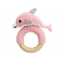 Sindibaba Rattle Ring DOLPHIN PINK