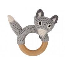 Sindibaba Rattle Ring FOX grey