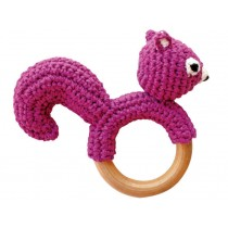 Sindibaba rattle ring chipmunk purple