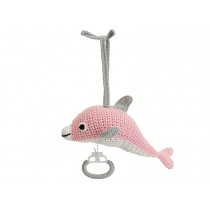Sindibaba Musical Soft Toy DOLPHIN PINK