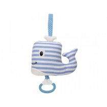 Sindibaba musical soft-toy Whalli striped blue
