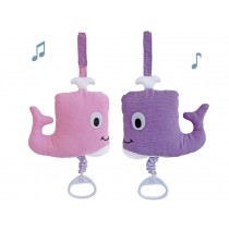 Sindibaba musical soft-toy Whalli coral
