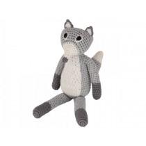 Sindibaba Crochet Cuddly Toy Rattle FOX grey