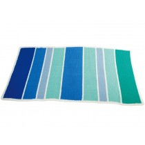 Sindibaba crochet carpet stripes marine