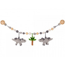 Sindibaba Stroller Chain DINOSAURS grey